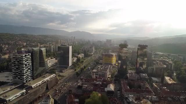 Sarajevo City HD: Stock Video