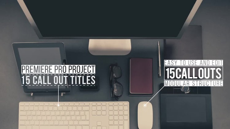15 Call Out Titles: Premiere Pro Templates