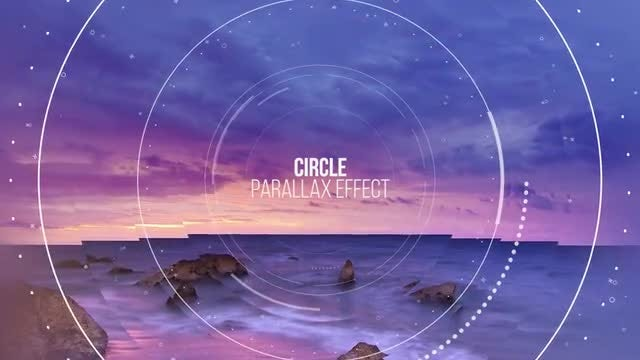 Circle Parallax Slideshow: Premiere Pro Templates