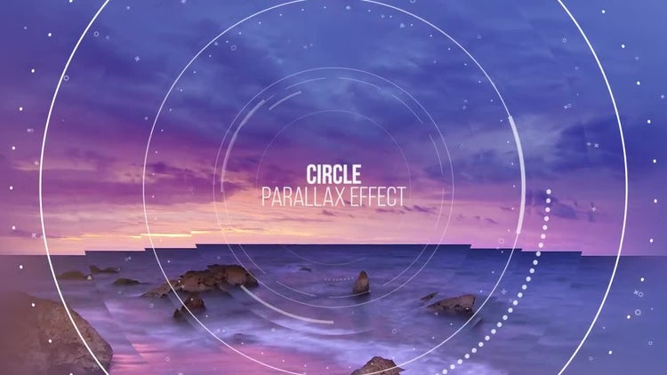 Circle Parallax Slideshow: Premiere Pro Templates