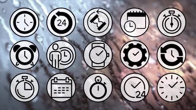 Time Keeper Icons Pack: Stock Motion Graphics