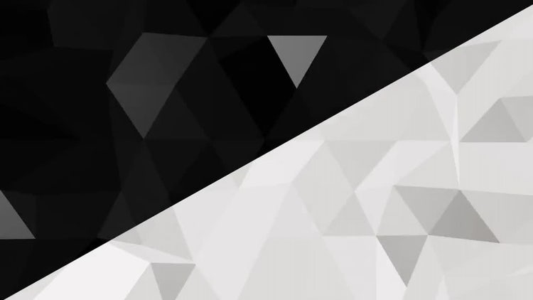 Black & White Triangles 4K: Stock Motion Graphics