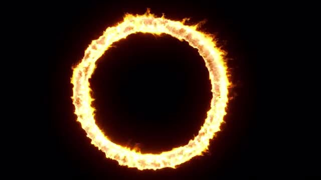 Circular Fire: Stock Motion Graphics