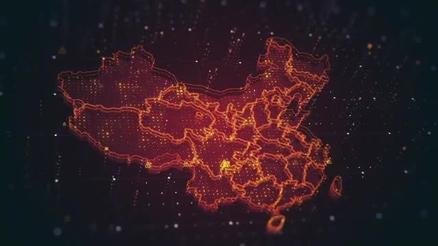 China Digital Map Pack: Stock Motion Graphics