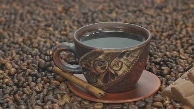 Hot Coffee And Chocolate: Stock Video