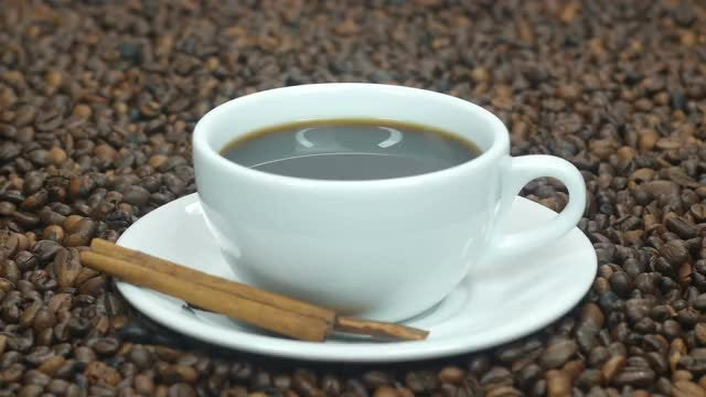 Coffee And Cinnamon Sticks: Stock Video