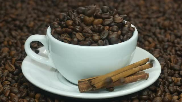Coffee Beans And Cinnamon: Stock Video