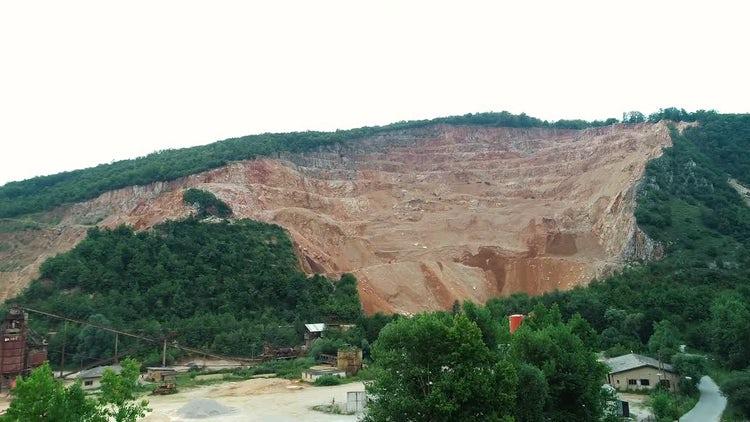 Aerial Of A Quarry: Stock Video