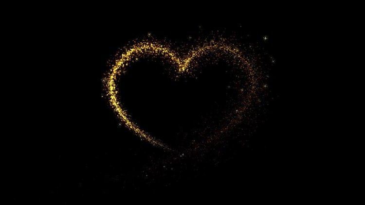 Heart Particles Formation: Stock Motion Graphics