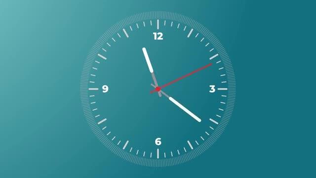 Analog Clock (Alpha Channel): Stock Motion Graphics