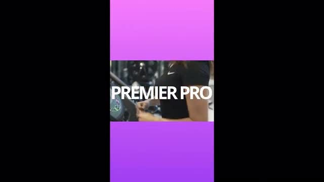 Instagram Story Sport Gym: Premiere Pro Templates