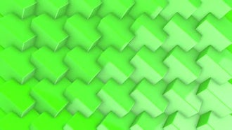 Rotating Green Cubes: Motion Graphics