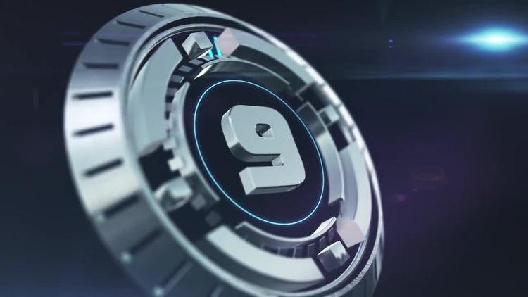 Futuristic 3D Countdown: Motion Graphics
