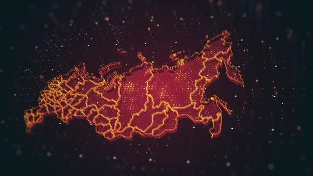 Russia Danger Map Pack: Stock Motion Graphics