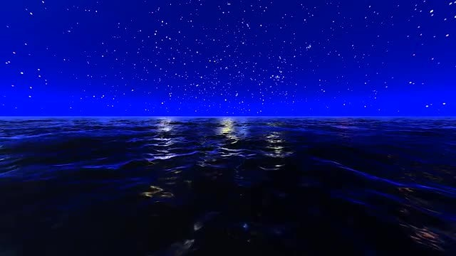 Night Ocean And Stars: Stock Motion Graphics