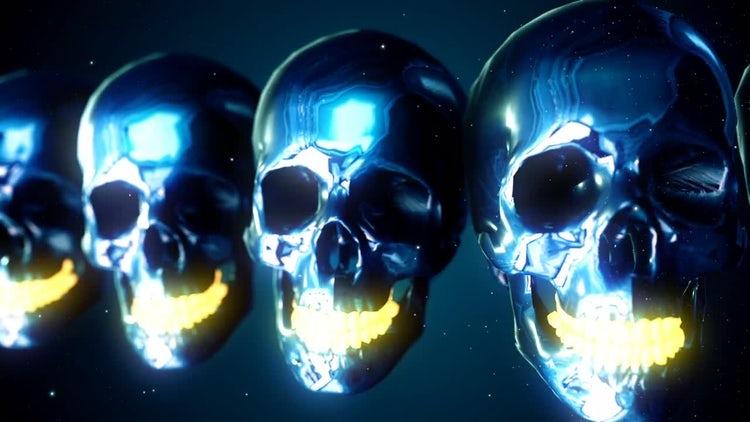 Metallic Skulls: Stock Motion Graphics