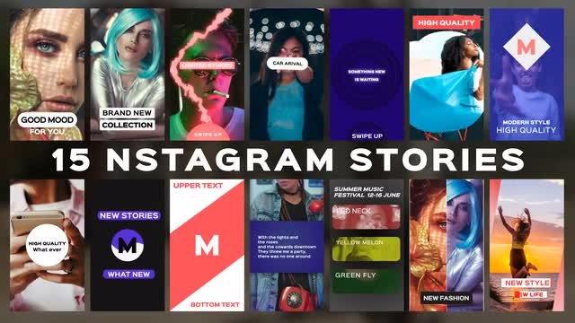 15 Instagram Stories: Premiere Pro Templates