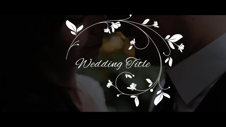 Elegant Wedding Titles: Premiere Pro Templates