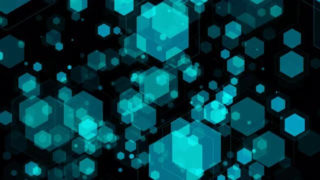 Shimmering Hexagons Background: Stock Motion Graphics