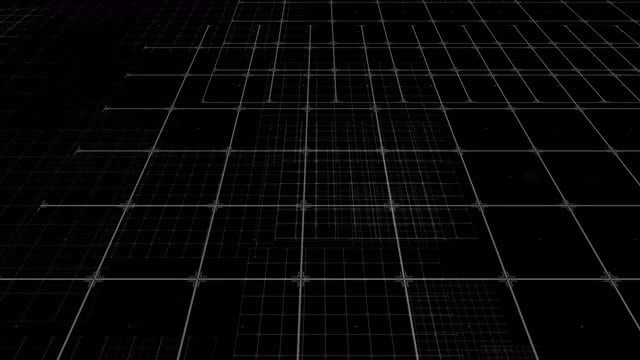 Grid Flickers In Space: Stock Motion Graphics