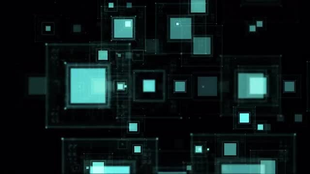 Cyan Squares Background: Stock Motion Graphics