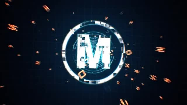 Tech Grid Logo: After Effects Templates