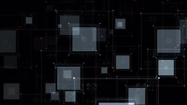 Flashing HUD Squares: Stock Motion Graphics
