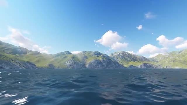 Ocean Flight: Stock Motion Graphics