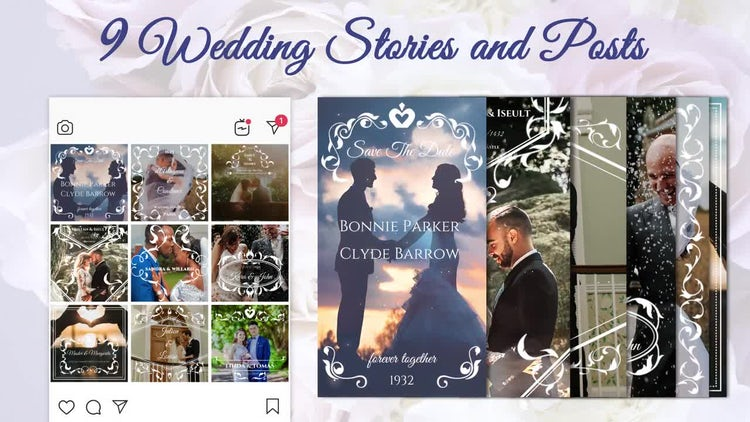 Wedding Stories And Posts: Premiere Pro Templates