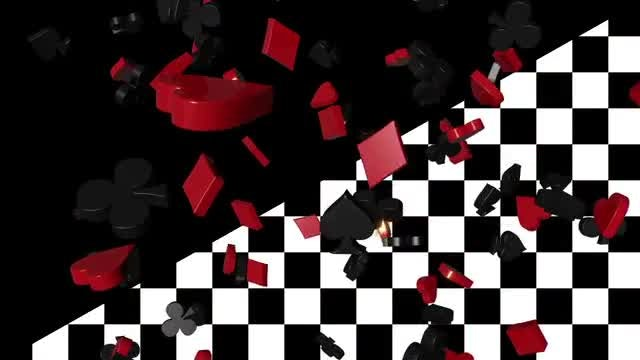 Falling Card Suits Loop : Stock Motion Graphics