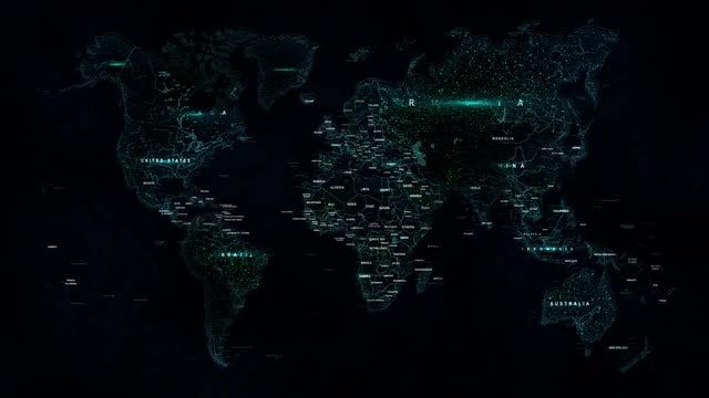 Labeled World Map: Stock Motion Graphics