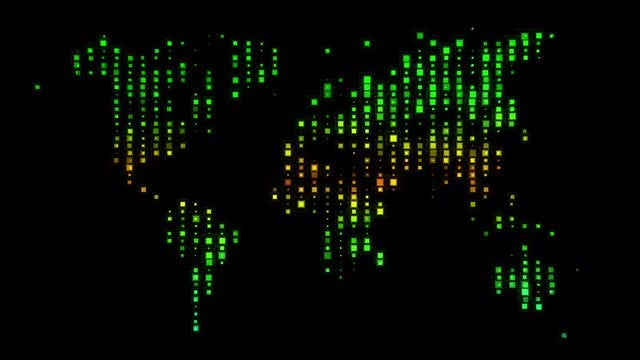 HUD Squares World Map: Stock Motion Graphics