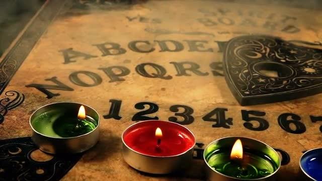 Smoke Over A Ouija Board: Stock Video