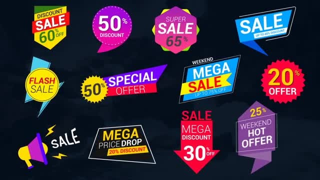 Sale Lables & Badges: After Effects Templates