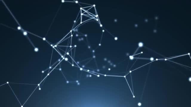 Plexus Night Sky: Stock Motion Graphics