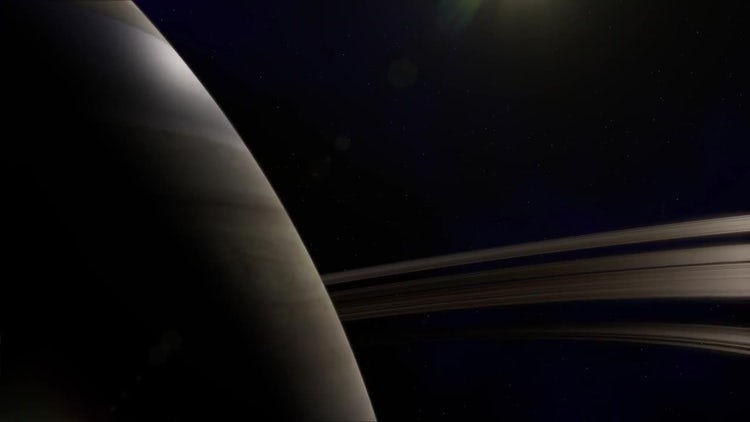 Saturn Planet: Stock Motion Graphics