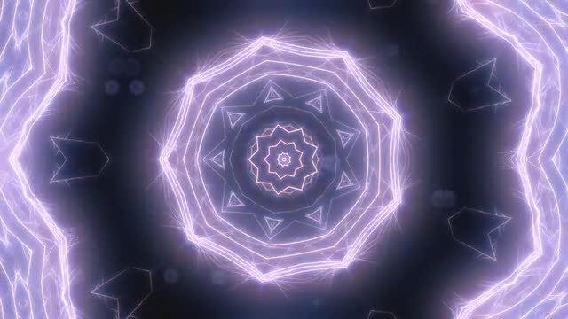 Neon Purple Kaleidoscope: Stock Motion Graphics