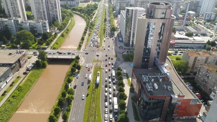 City Traffic In Sarajevo: Stock Video