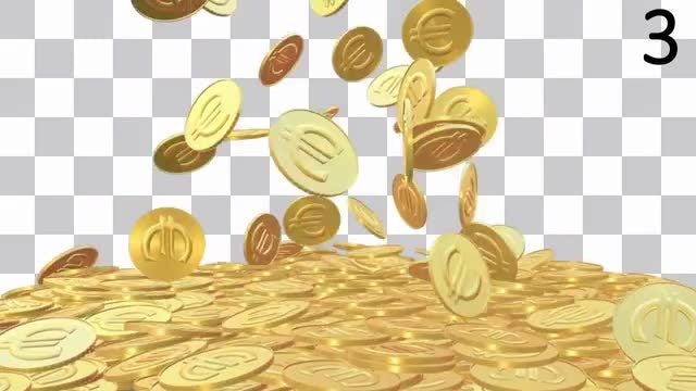 Currency Gold Coins Pack: Stock Motion Graphics