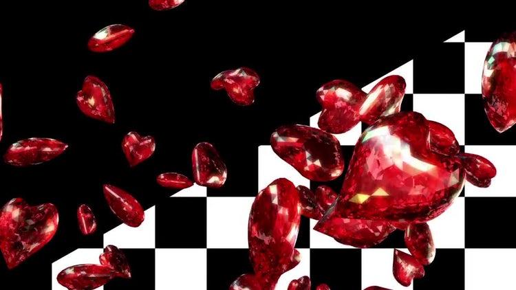 Diamond Hearts Loop: Stock Motion Graphics