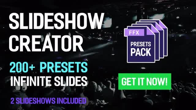 Slideshow Creator - 200+ Presets Pack: After Effects Presets