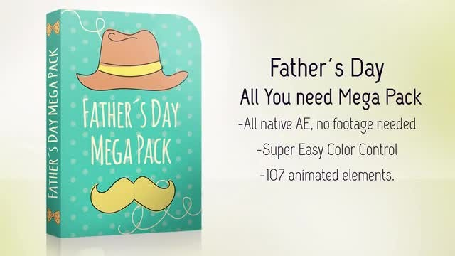 Father´s Day Full Pack: After Effects Templates
