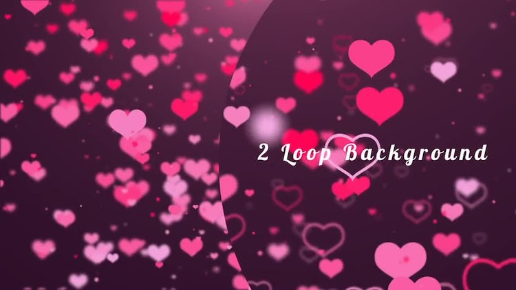 2 Hearts Backgrounds: Motion Graphics