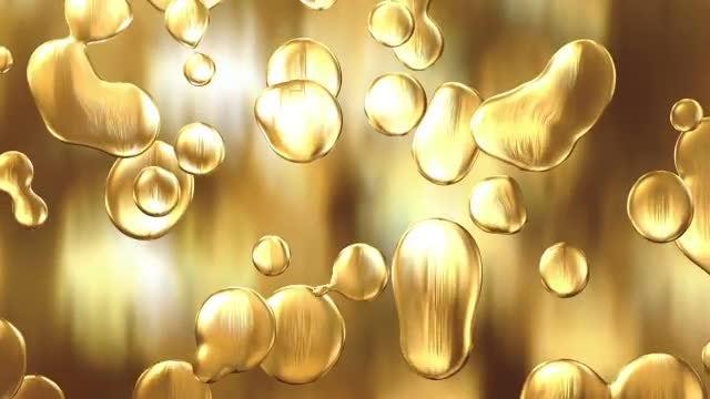 Liquid Gold Background Loop: Stock Motion Graphics