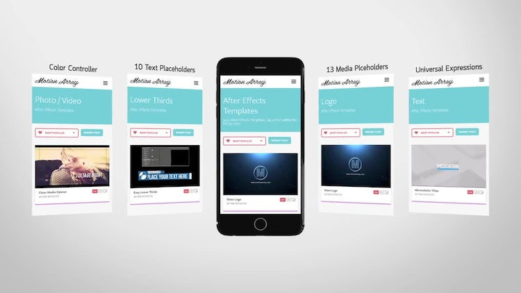Mobile App Promo: After Effects Templates