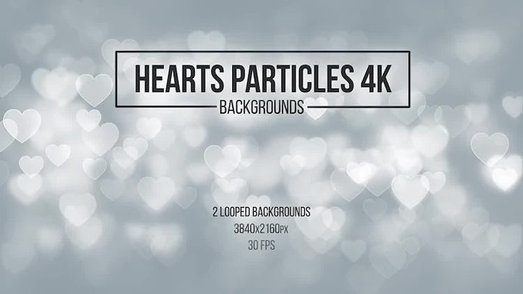 Heart Particle Backgrounds: Stock Motion Graphics
