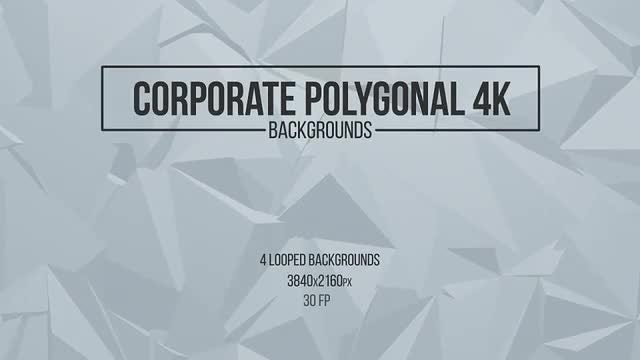 Corporate Polygonal Backgrounds: Stock Motion Graphics