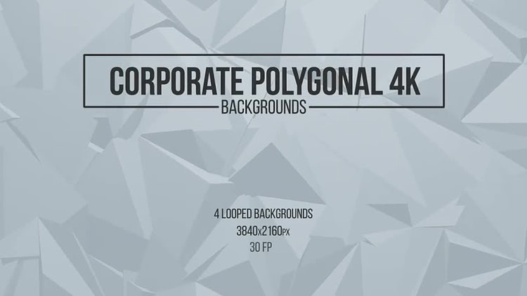 Corporate Polygonal Backgrounds: Motion Graphics