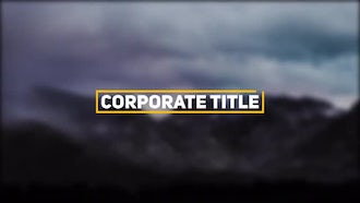 Corporate Title: After Effects Templates