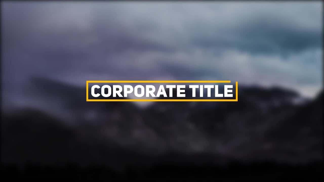 Corporate Title - After Effects Templates   Motion Array